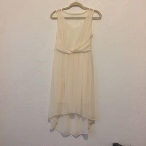 Dresses & Skirts - NWOT White/Cream Chiffon High Low Dress